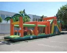 Autre offre: Parcours jungle complet - Structure gonflable